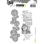 Circles & Text - Carabelle Studio Cling Stamp A6