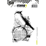 A Bird On My Diary - Carabelle Studio Cling Stamp A6