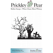 "Hand In Graveyard - Prickley Pear Cling Stamps 2.25""X2"""