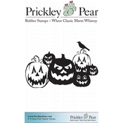 "Jack-O-Lanterns - Prickley Pear Cling Stamps 2.25""X2"""