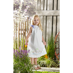 Size 3-8 - Daisy Bow Swag Pillowcase Dress Stamped For Embroidery Kit
