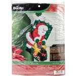 "18"" Long - Santa And Scottie Dog Stocking Felt Applique Kit"