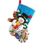 "18"" Long - Forest Friends Stocking Felt Applique Kit"