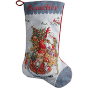 "18"" Long 28 Count - Old World Santa Stocking Counted Cross Stitch Kit"