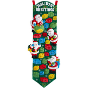 "9""X34"" - Santa Advent Calendar Felt Applique Kit"