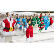 "27""X5"" - Santa's Laundry Garland Felt Applique Kit"