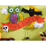 "19.5""X15"" - Halloween Wall Hanging Felt Applique Kit"