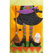 Witch Wall Hanging Felt Applique Kit