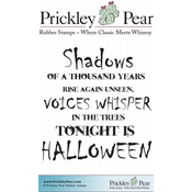 "Shadows - Prickley Pear Cling Stamps 3""X2.5"""