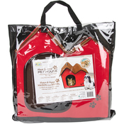 Red - Cat/Dog Life Home & Travel Pet House