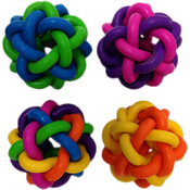 "Multipet Nobbly Wobble Interwoven Ball With Bell 2pk 1.75""Ea"