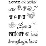 """Love One Another - SRM Bible Journaling Clear Stamps 4""""X6"""""""