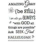 """Amazing Grace - SRM Bible Journaling Clear Stamps 4""""X6"""""""