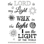 """The Lord Is My Light - SRM Bible Journaling Clear Stamps 4""""X6"""""""