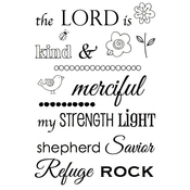 """The Lord Is - SRM Bible Journaling Clear Stamps 4""""X6"""""""