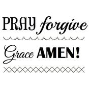 "Big Amen - SRM Bible Journaling Clear Stamps 4""X6"""