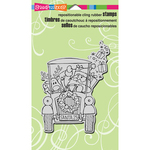 "Santa's Pick Up - Stampendous Cling Stamp 4.75""X4.5"""