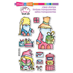 """Whisper Friends Christmas - Stampendous Pink Your Life Perfectly Clear Stamps 4""""X6"""""""