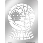 Snowglobe Chalet - Stampendous Metal Stencil