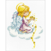 "8""X10.25"" 14 Count - Star Angel Counted Cross Stitch Kit"