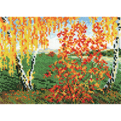 """7""""X5.5"""" 14 Count - Autumn Counted Cross Stitch Kit"""