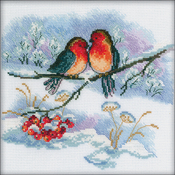 "7""X7"" 16 Count - Bullfinches Counted Cross Stitch Kit"