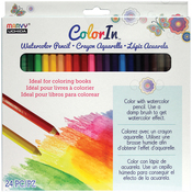Assorted Colors - Color In Watercolor Pencil Set 24pcs