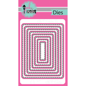 Stitched Rounded Rectangles, 8/Pkg - Pink And Main Dies