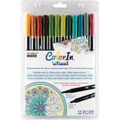 Natural - Color In Double-Ended Markers 12/Pkg