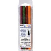 Natural - Color In Fine Tip Markers 4/Pkg