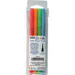 Neon - Color In Brush Tip Markers 4/Pkg