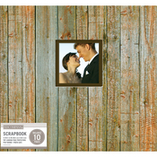 "Weathered Wood - K&Company Patterned Post Bound Window Album 12""X12"""