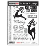 """Christmas Reindeer - Darkroom Door Cling Stamps 7""""X5"""""""