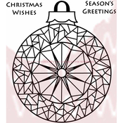 """Mosaic Bauble - Woodware Clear Stamps 3.5""""X3.5"""""""