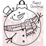 """Large Snowman Bauble - Woodware Clear Stamps 3.5""""X3.5"""""""