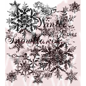 """Snowflakes - Woodware Clear Stamps 3.5""""X3.5"""""""