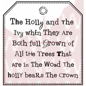 """Holly & Ivy Tag - Woodware Clear Stamps 3.5""""X3.5"""""""