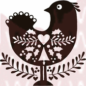 """Little Christmas Bird - Woodware Clear Stamps 3.5""""X3.5"""""""