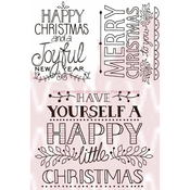 """Hand Drawn Greeting - Woodware Clear Stamps 3.5""""X5.5"""""""