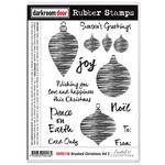 """Brushed Christmas Vol 2 - Darkroom Door Cling Stamps 7""""X5"""""""