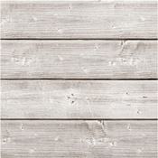 "6""X6""X1.875"" Weathered White - Jillibean Soup Mix The Media Wooden Plank 6""X6""X1.875"""