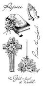 "Spiritual Sketches - Inkadinkado Clear Stamps 4""X8"""
