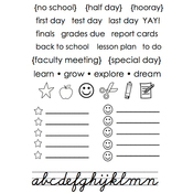 """School Days - SRM Planner Clear Stamps 4""""X6"""""""