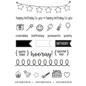"""Birthday Plans - SRM Planner Clear Stamps 4""""X6"""""""
