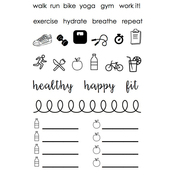 """Healthy Plans - SRM Planner Clear Stamps 4""""X6"""""""
