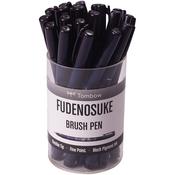Black - Tombow Fudenosuke Brush Fine Tip Pen Cup 20/Pkg