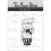 "Cupcake Treat - Two Paper Divas Clear Stamps 6""X4.5"""