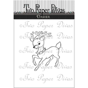 "Dasher - Two Paper Divas Clear Stamps 6""X4.5"""