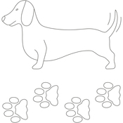 "Dachshund 7""X4"" - Quilt Stencils By Laura Estes"
