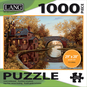 """House By The River - Jigsaw Puzzle 1000 Pieces 29""""X20"""""""